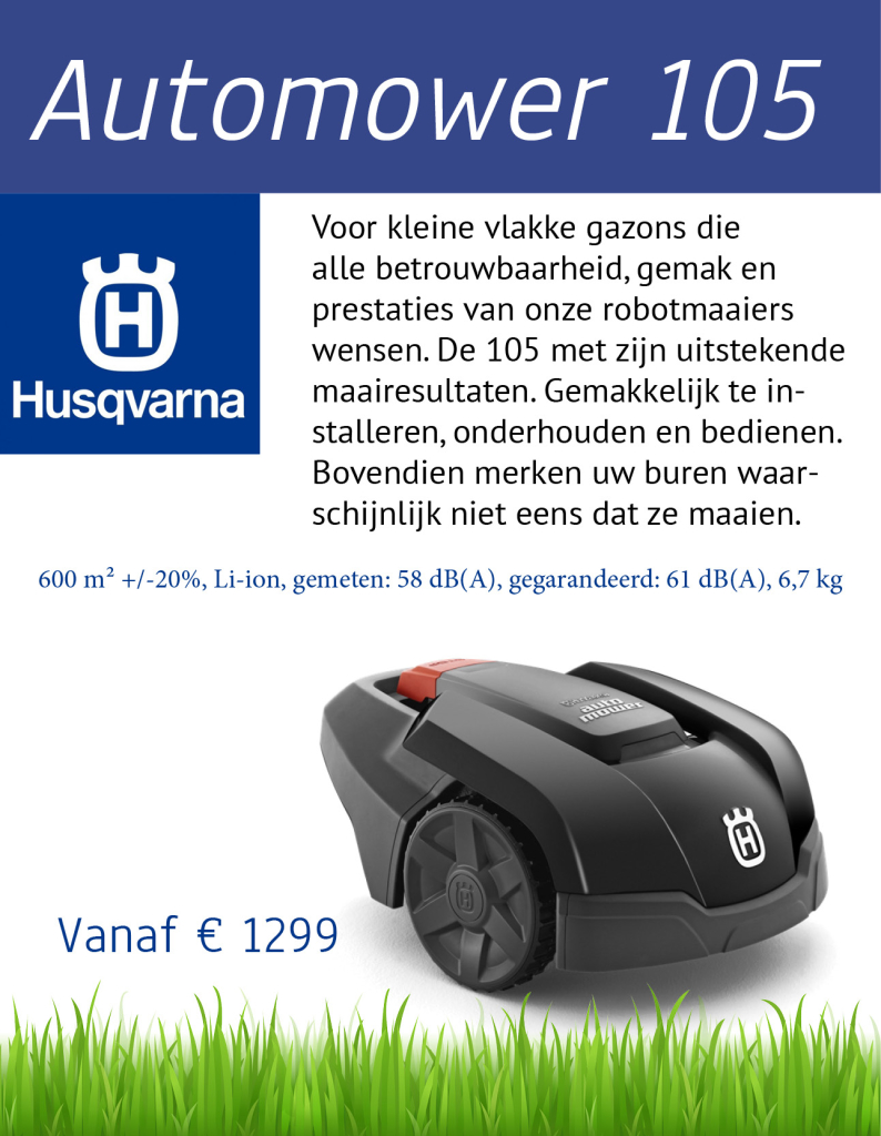 Husqvarna 105 | Tuinmachine-Service Leo de Visser
