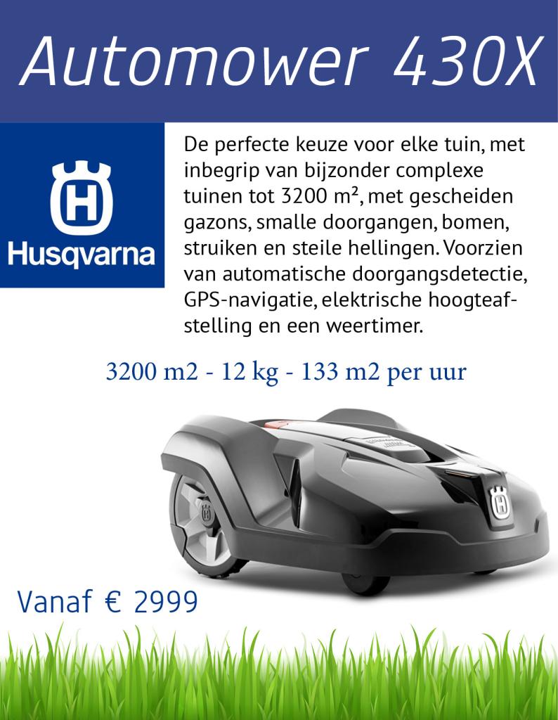 Husqvarna 430X | Tuinmachine-Service Leo de Visser