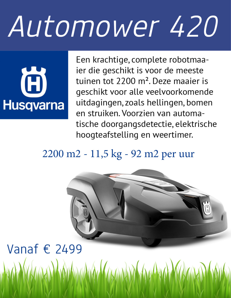 Husqvarna 420 | Tuinmachine-Service Leo de Visser