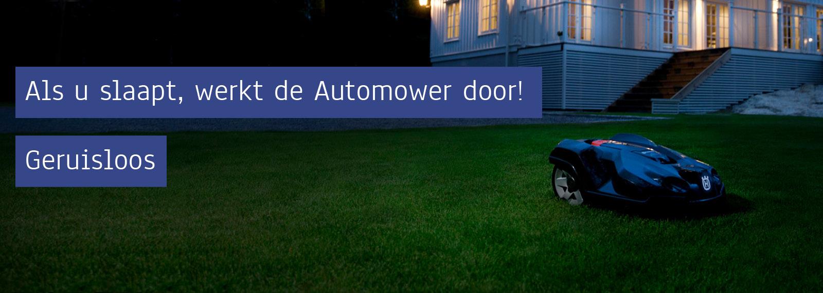 Geruisloos Husqvarna Automower Robotmaaier